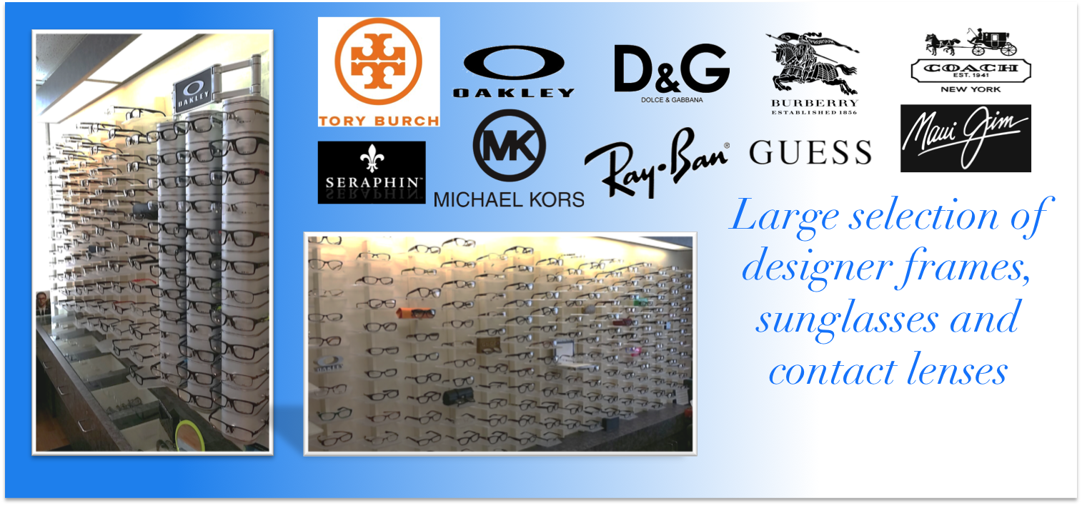Brand Name Designer Frames, Lenses and Contact Lenses